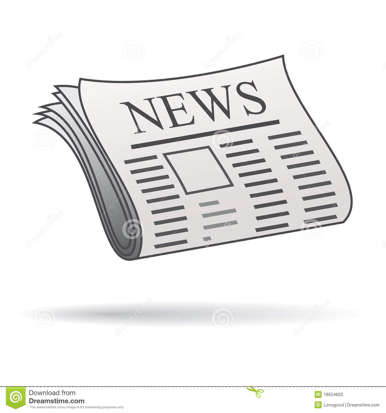 Newspaper Icon Stock Photos Image 18554603