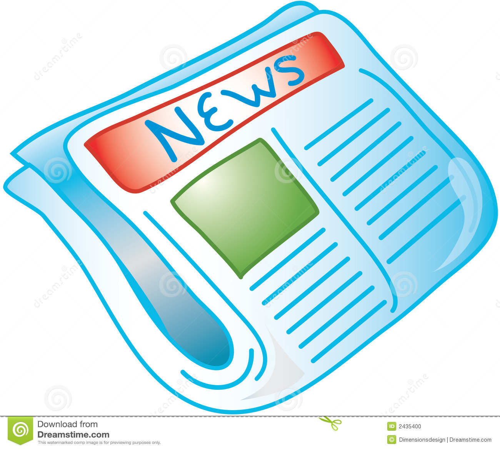 Newspaper Icon Stock Photo Image 2435400