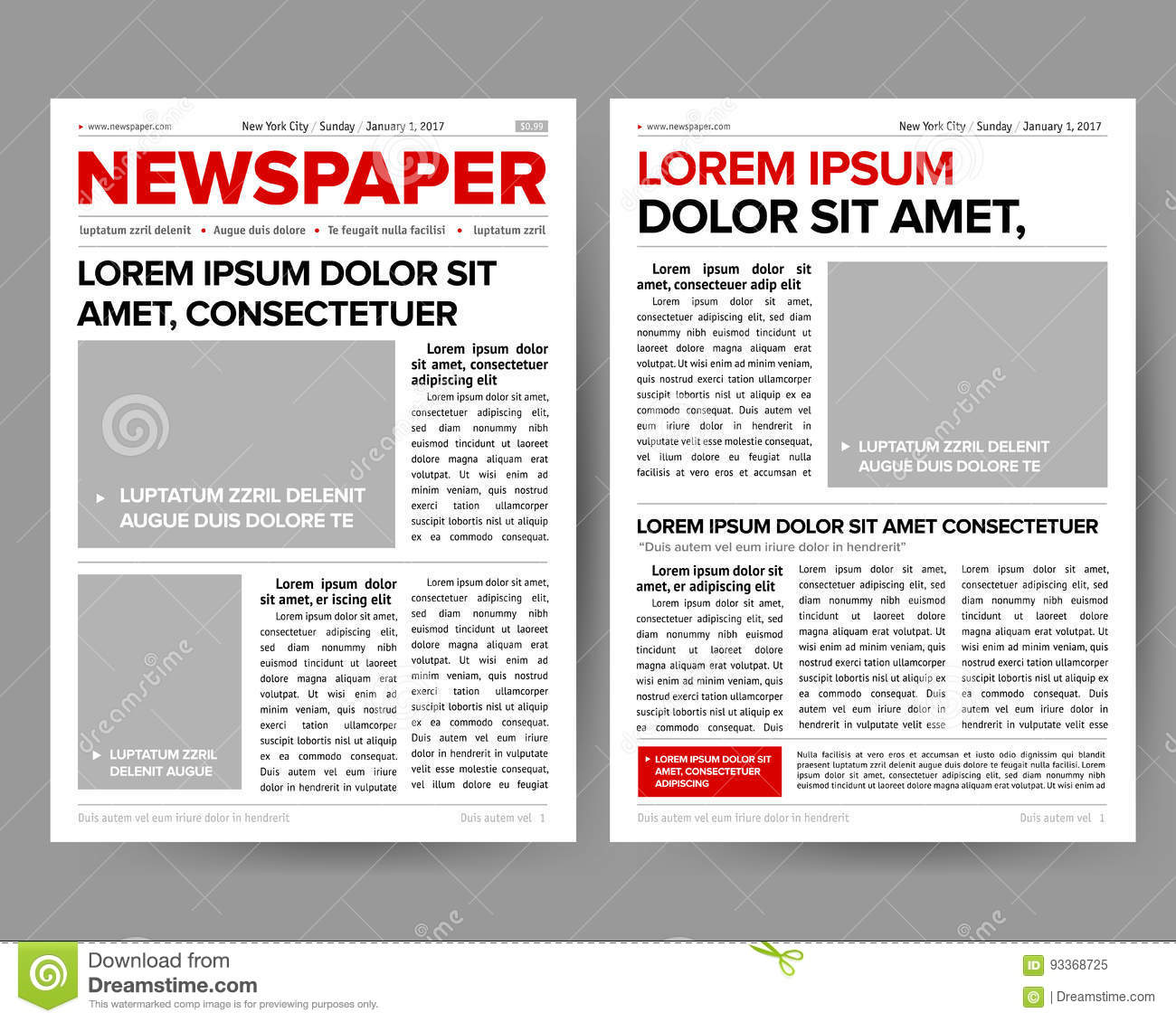 Daily newspaper journal design template with two page opening download daily newspaper journal design template with two page opening editable headlines quotes text articles maxwellsz