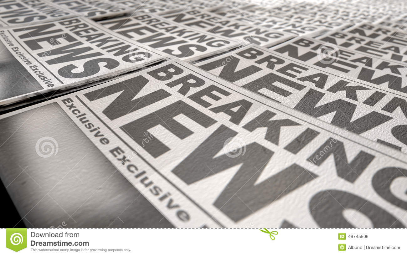 newspaper press run end stock photo. image of flash, breaking - 49745506
