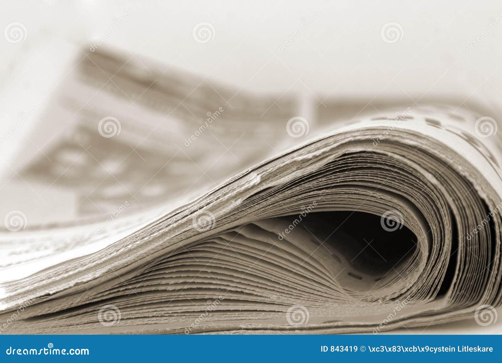 Newspaper in sepia
