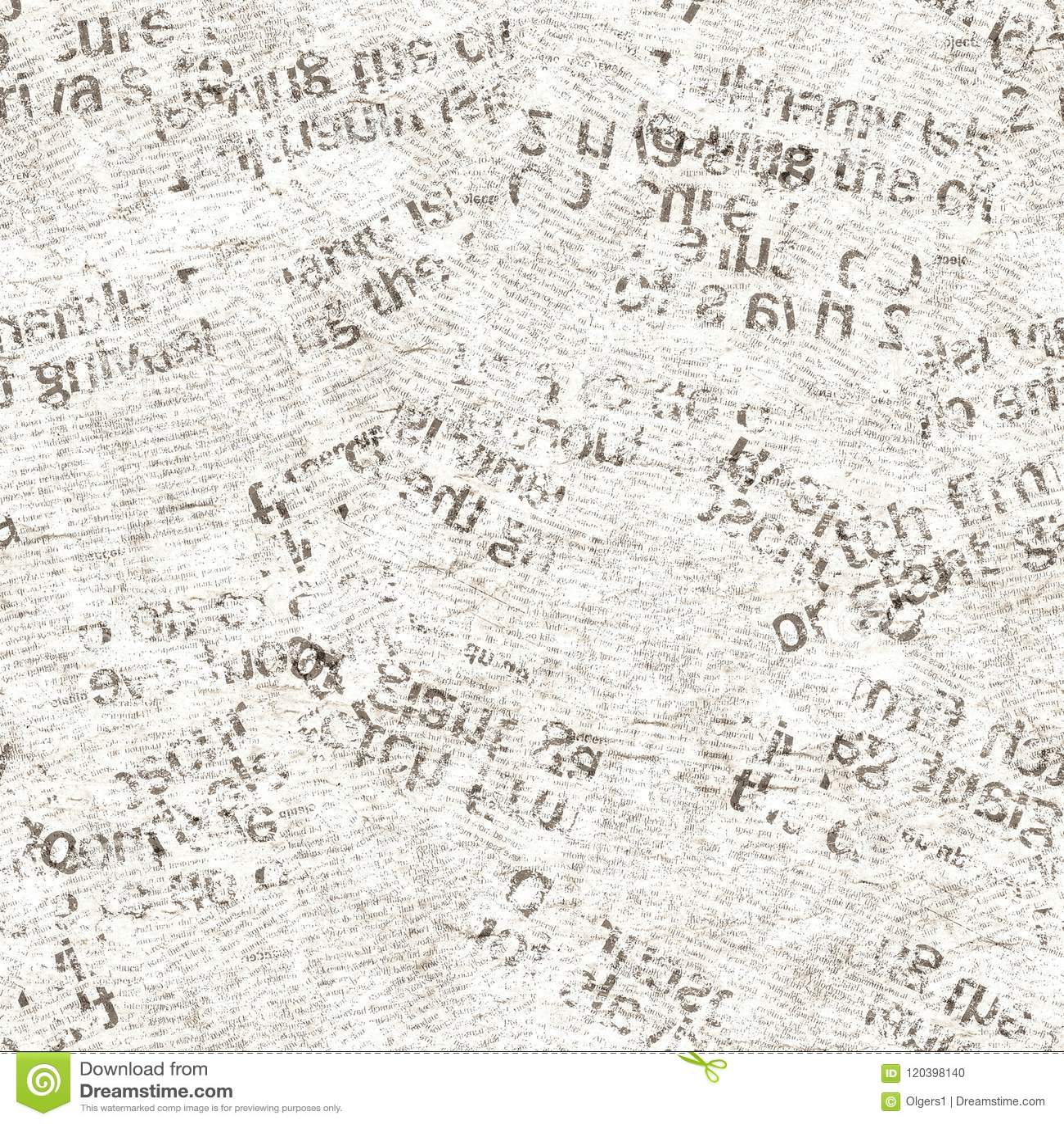 Newspaper Vintage Grunge Collage Seamless Texture Stock Photo