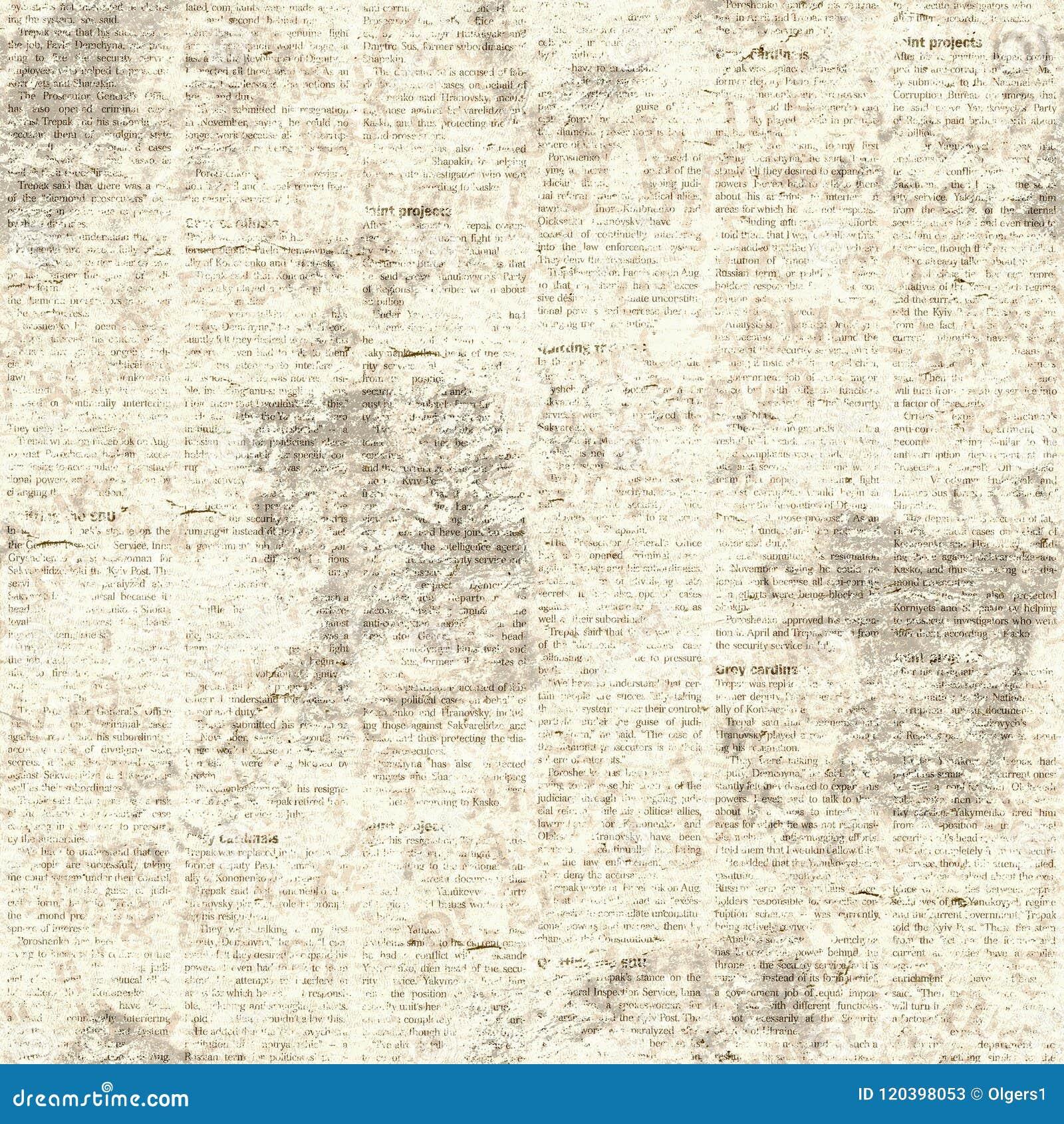 Newspaper Vintage Grunge Collage Seamless Texture Stock Image