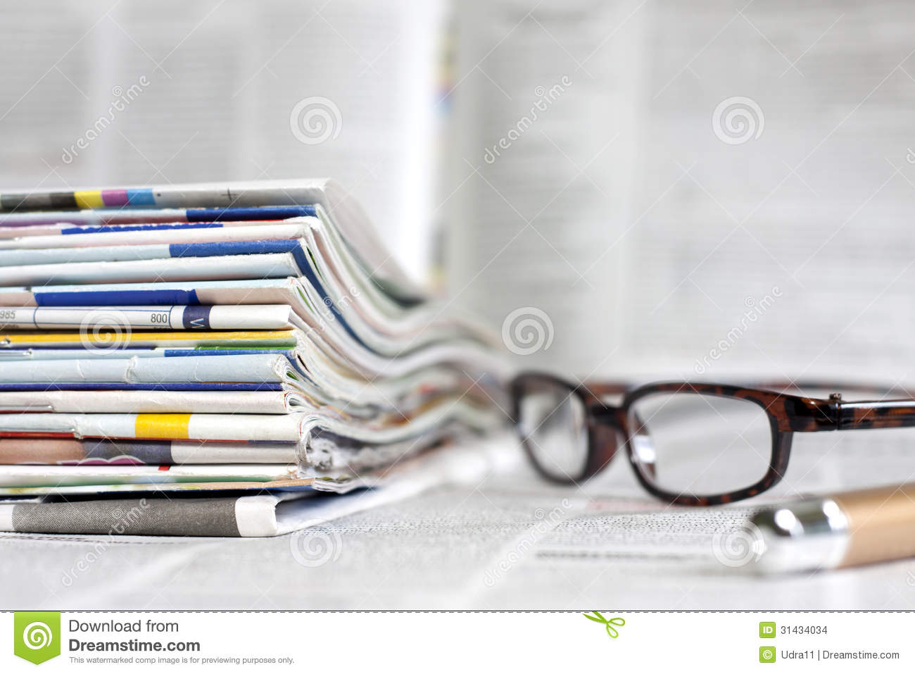 Newspapers And Magazines Background Concept Stock Images - Image ...