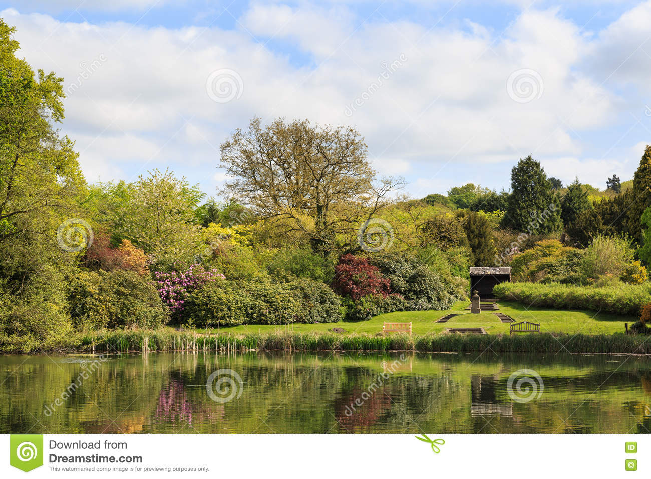 Newstead Abbey Garden Lake And Gardens Stock Photo Image