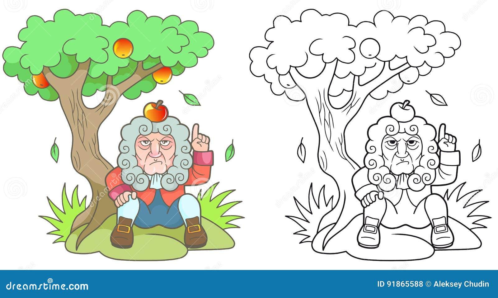 Newton Karikatur Stock Illustrationen Vektors Klipart 91