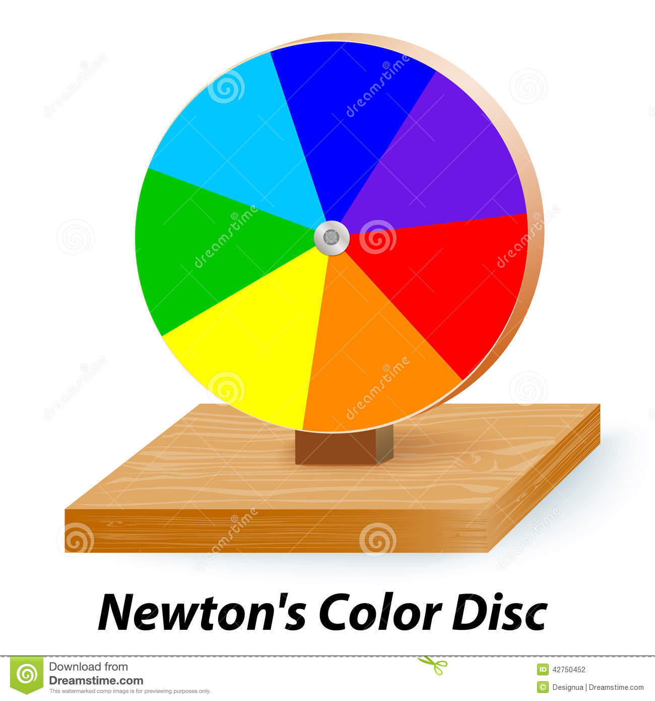Newtons Color Disc Wheel Stock Vector Image 42750452