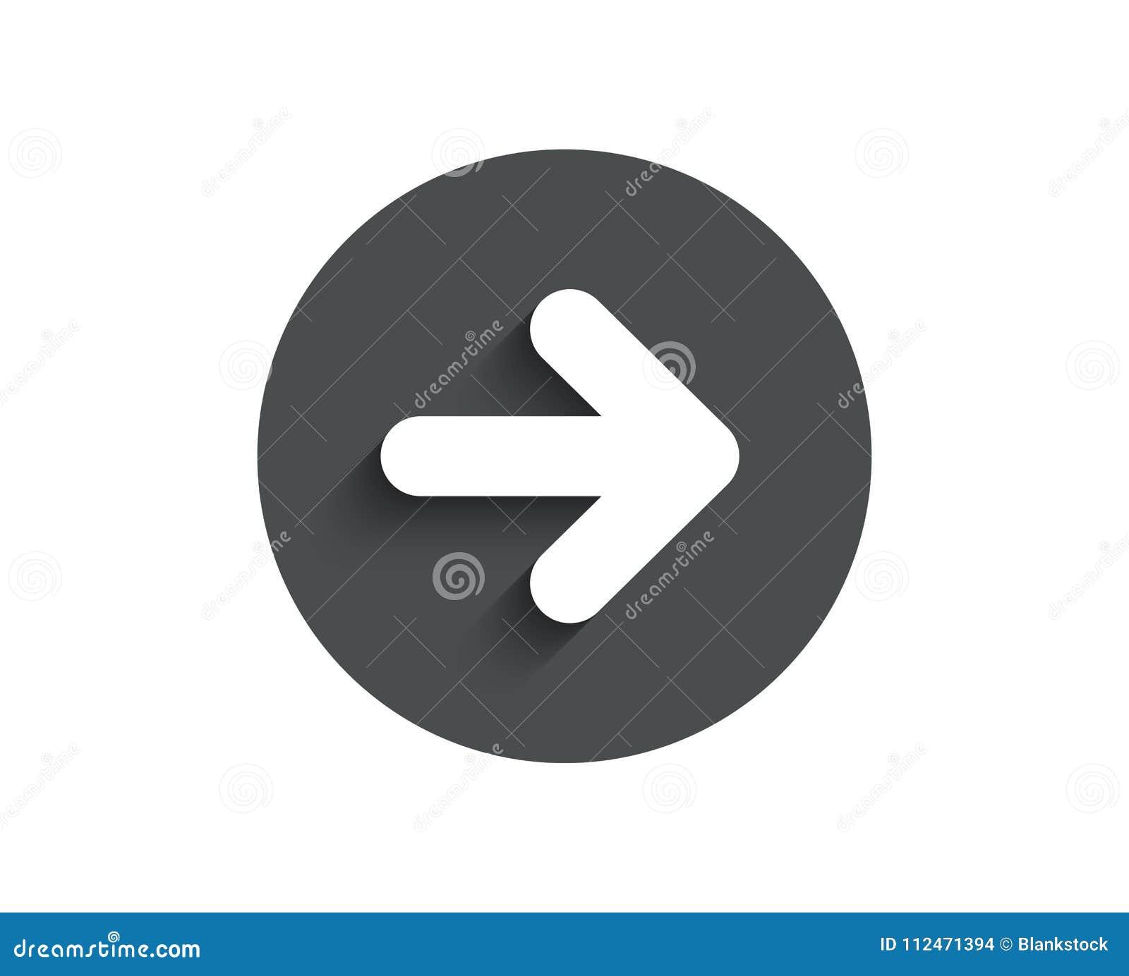 Next Arrow Simple Icon  Forward Arrowhead  Stock Vector