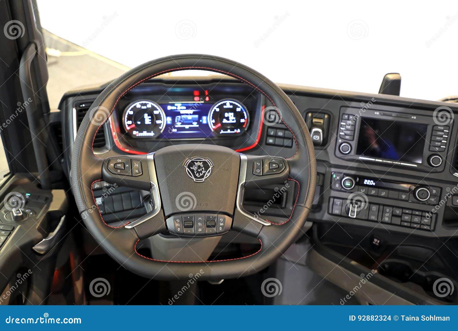 Next Generation Scania Truck Interior Editorial Stock Image