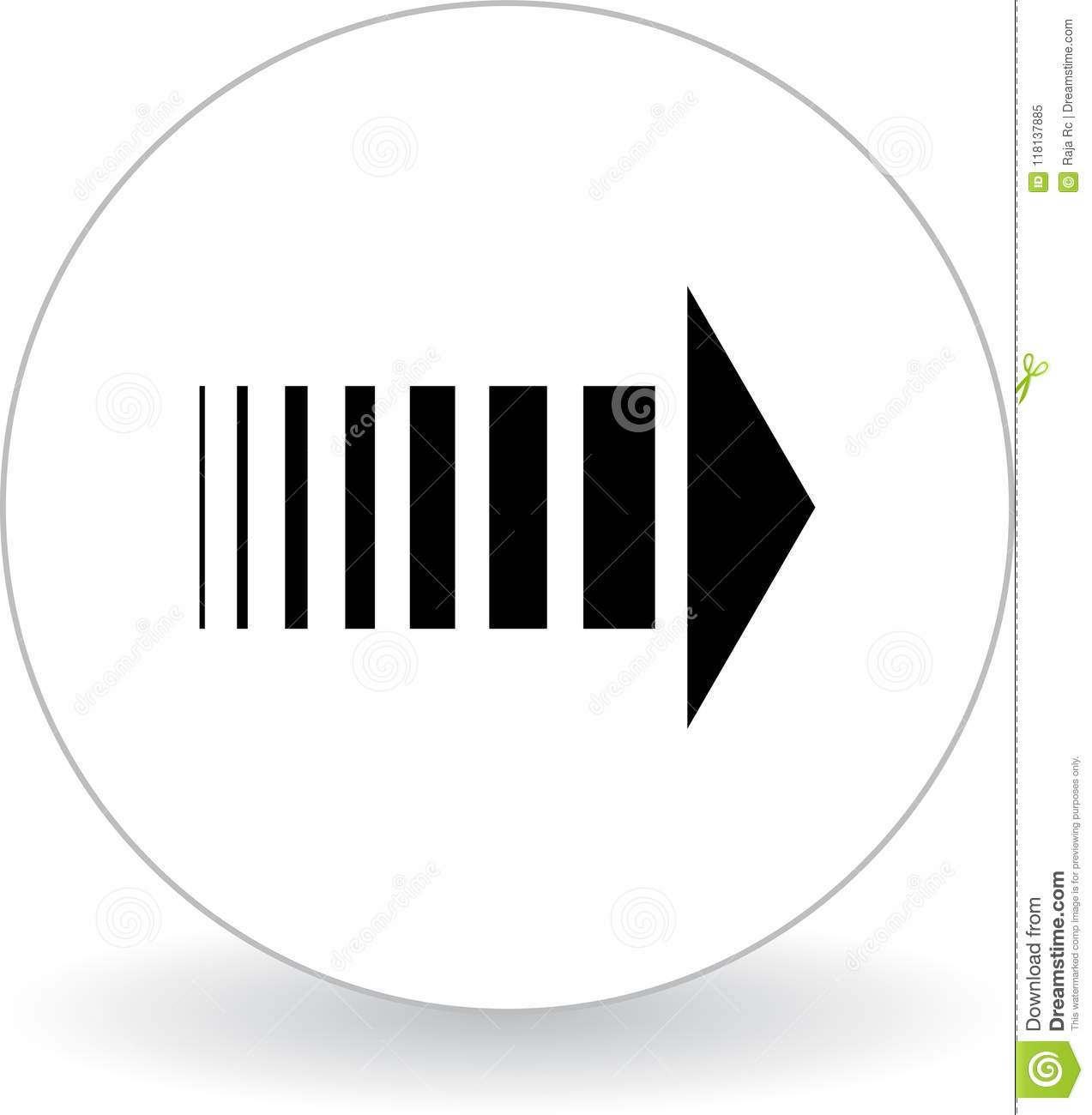 Download Next Page Icon Web Button Black And White Stock Vector