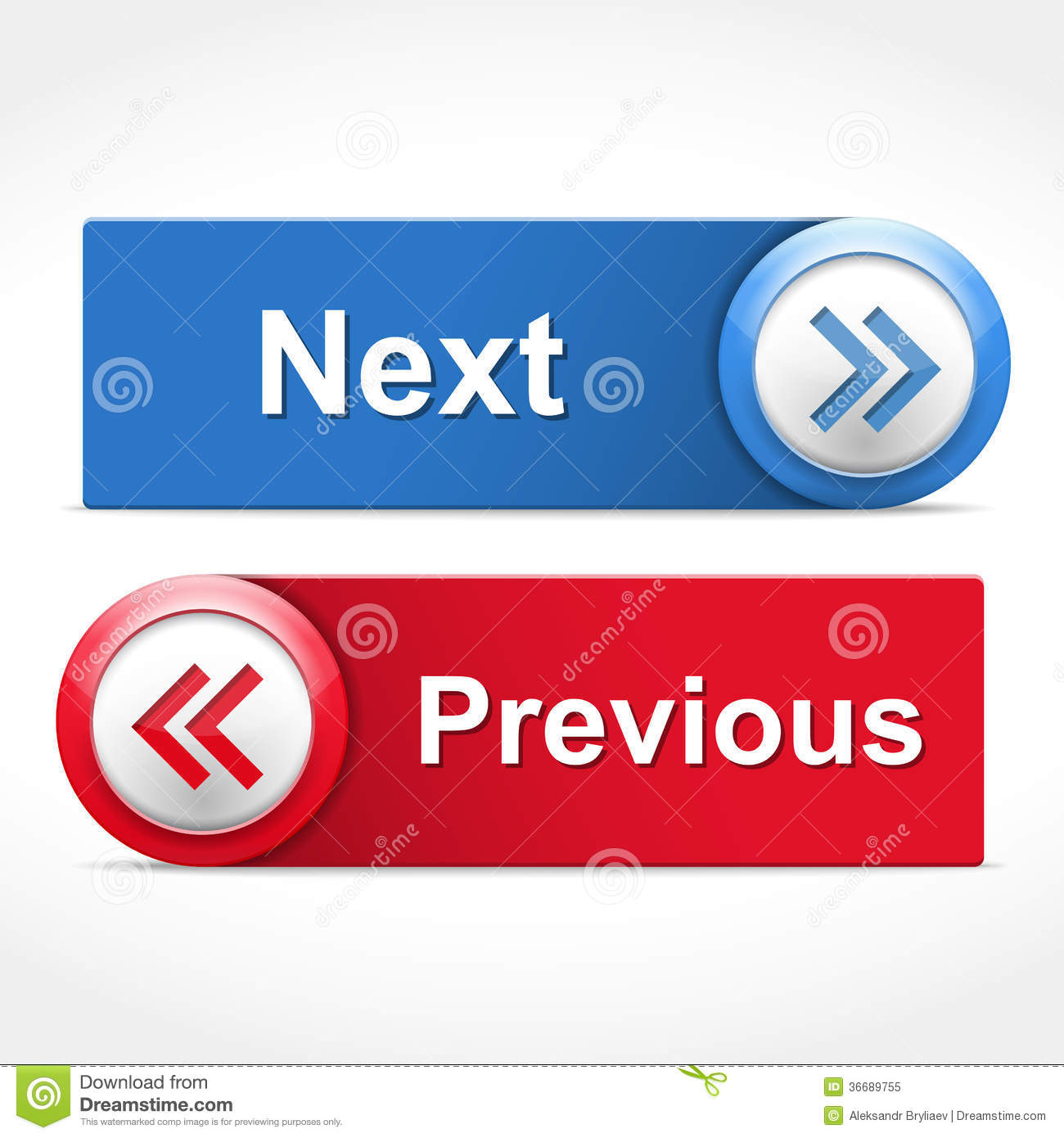 Next and Previous Buttons stock vector. Illustration of navigation ... b4f7ba86b36