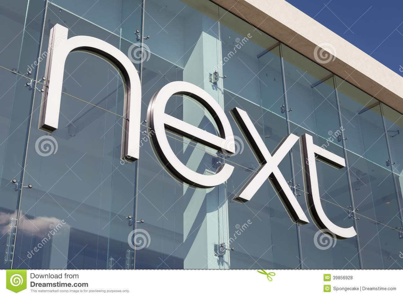 uk store get cheap new authentic Next store entrance sign editorial stock photo. Image of ...