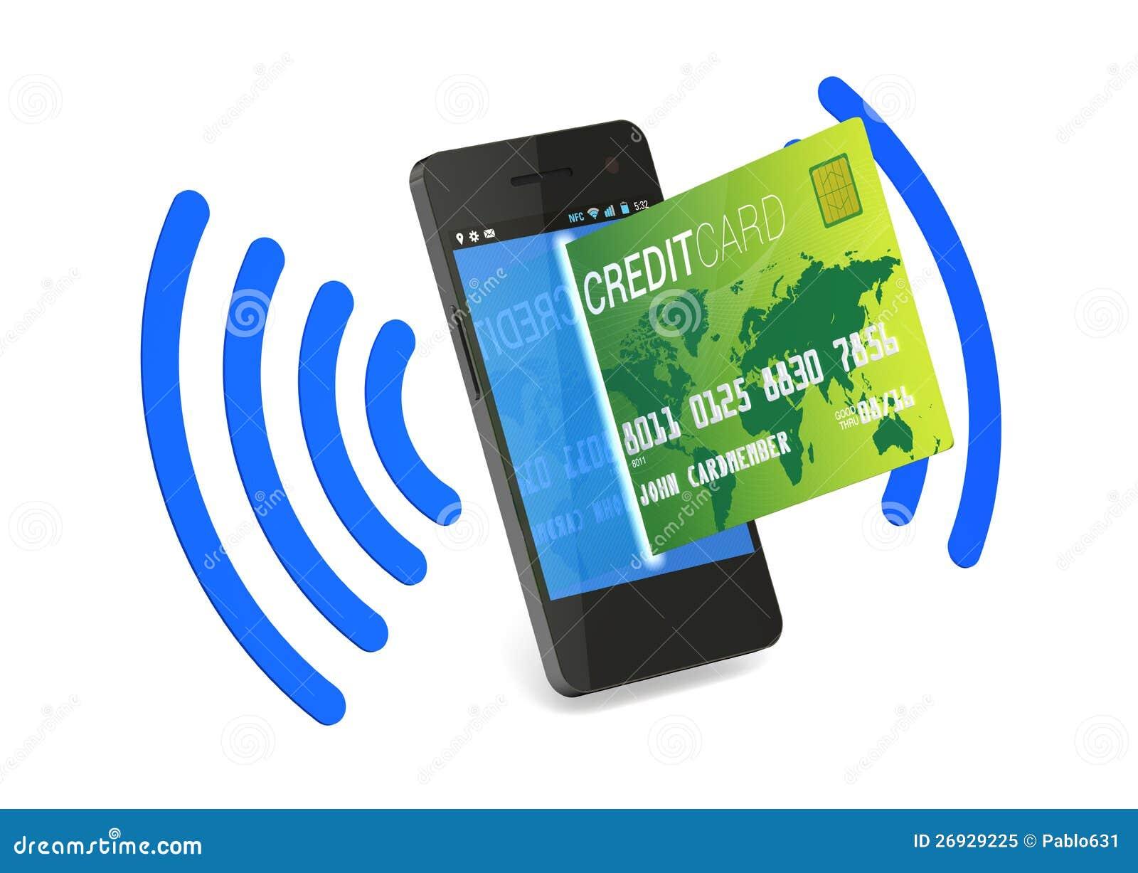 NFC Digitaces de la tarjeta de crédito