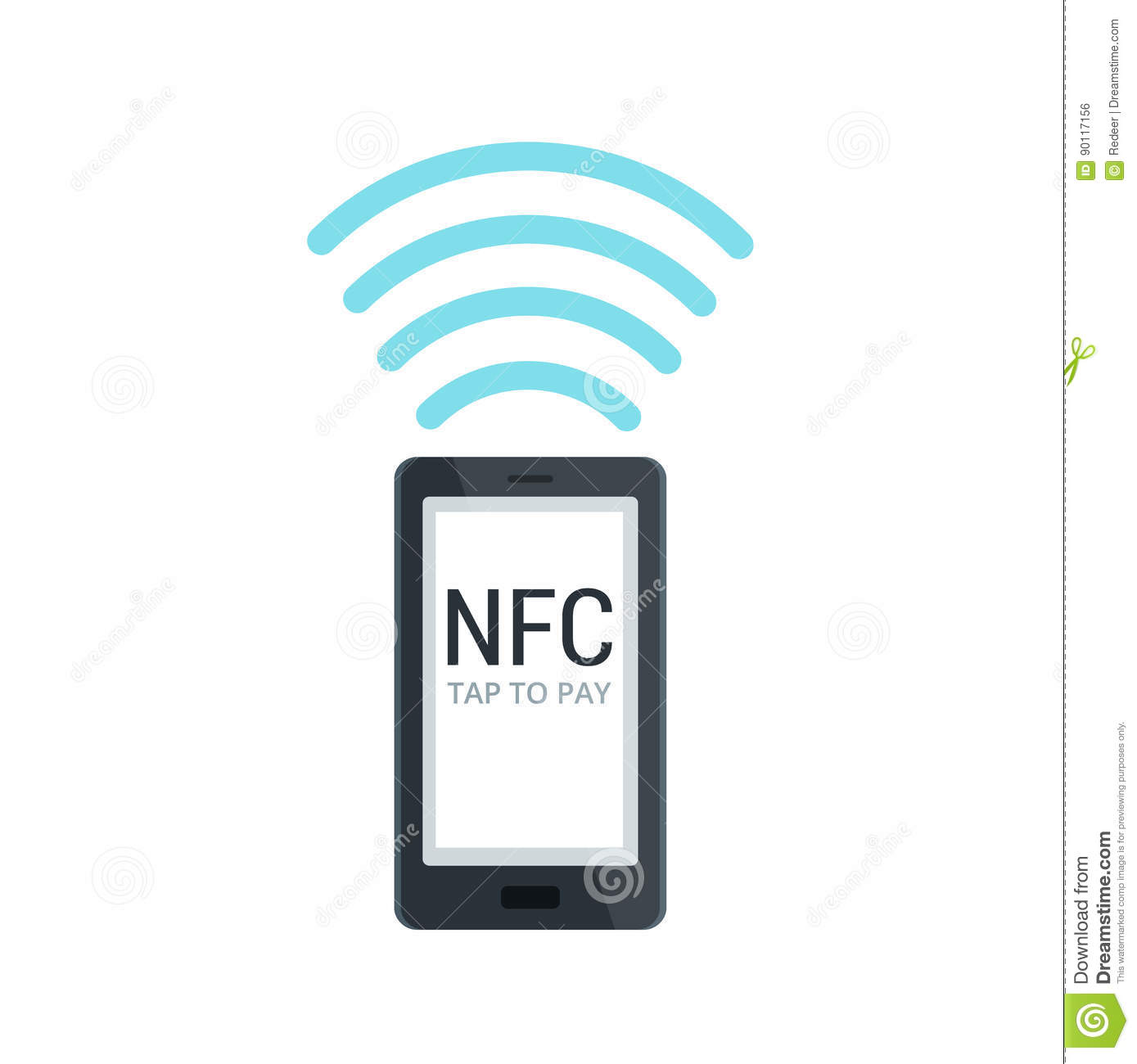Mobile payment using nfc tap and
