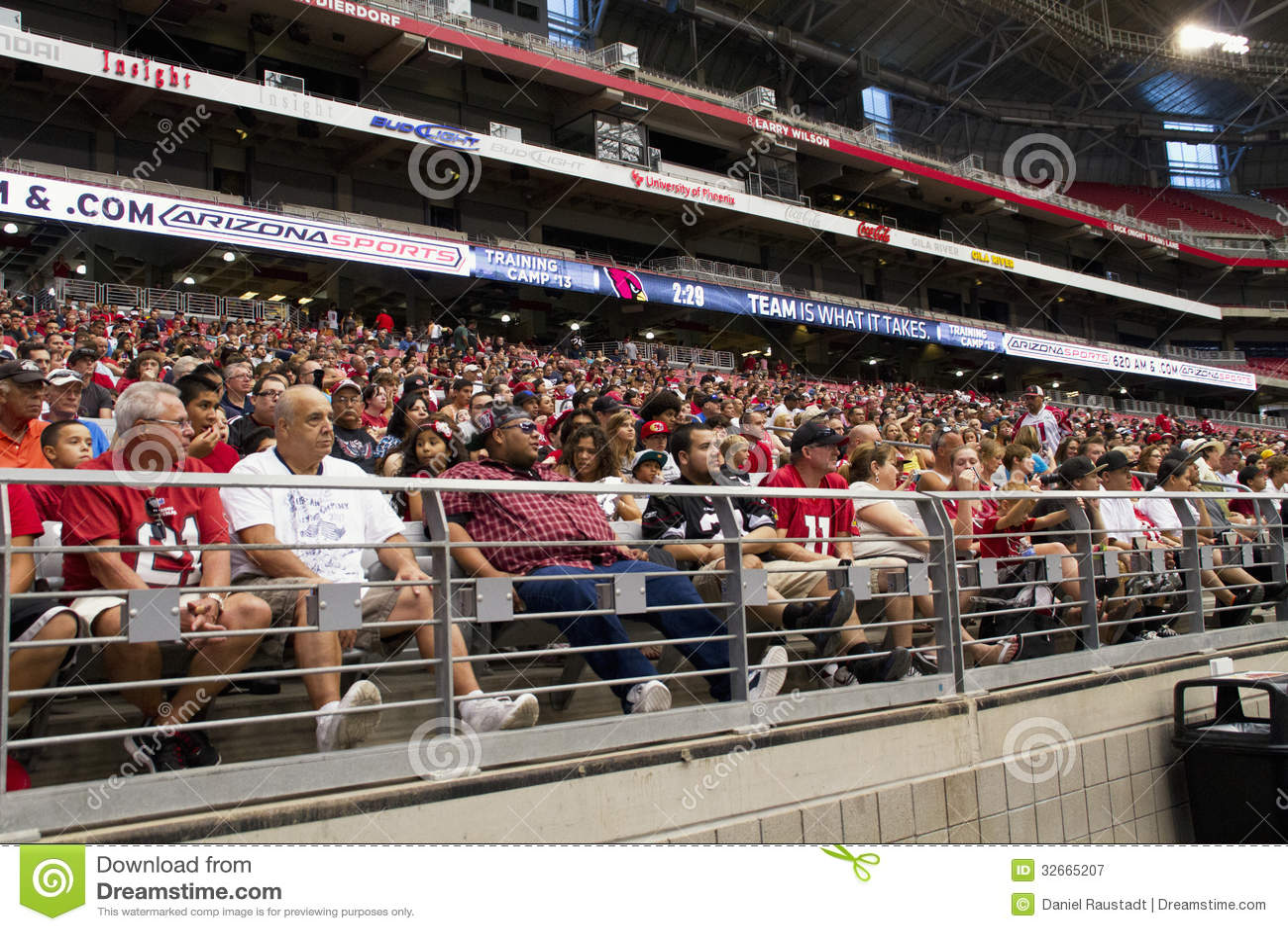 NFL Arizona Cardinals football team training camp fans