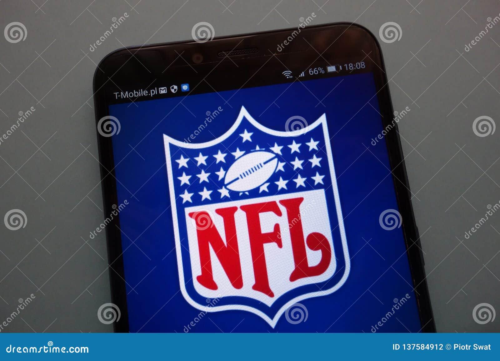 NFL-embleem op een smartphone