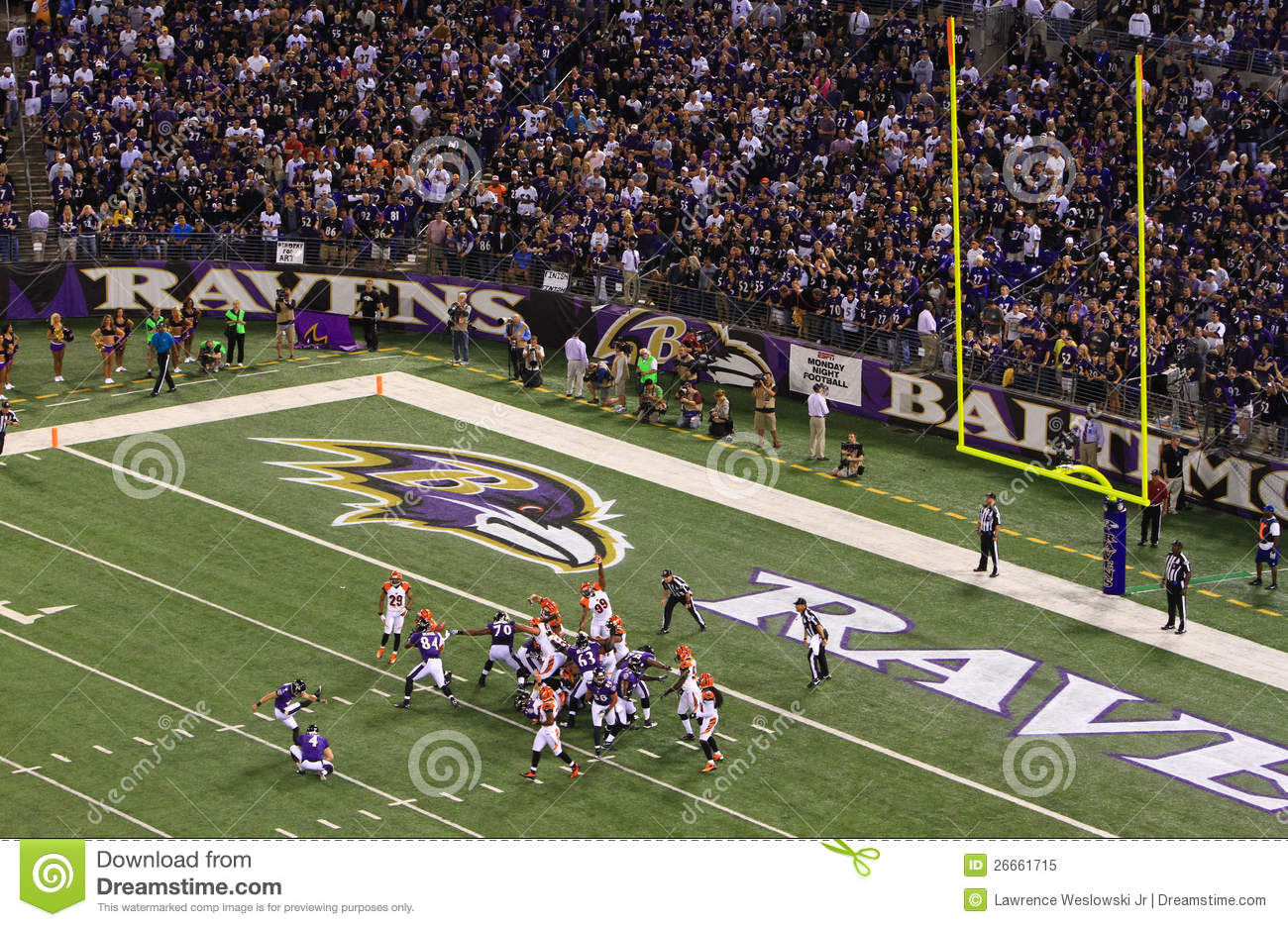 Nfl Football Field Goal Block Attempt Editorial Image Image Of
