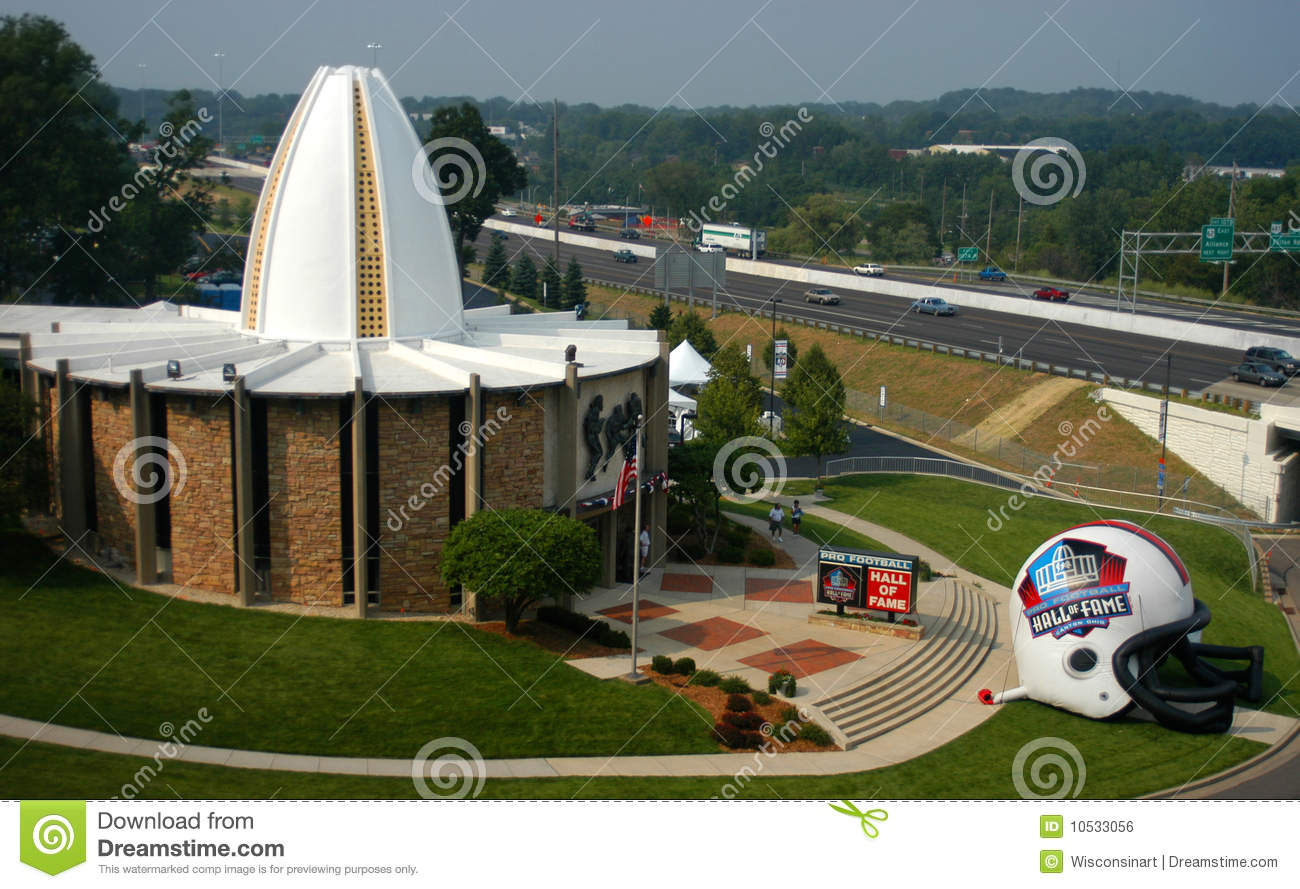 NFL Football Hall of Fame in Canton, Ohio