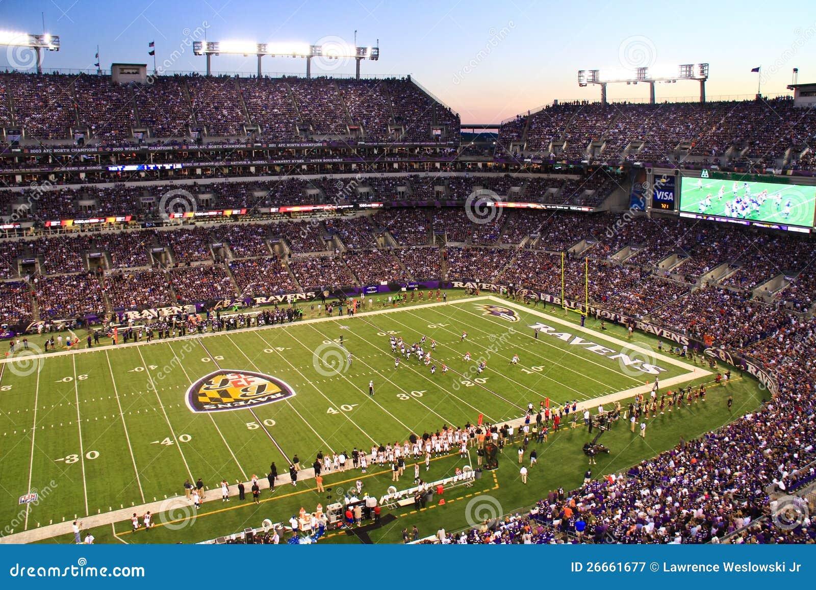 NFL Poniedziałkowej Nocy Futbolowy Zmierzch w Baltimore