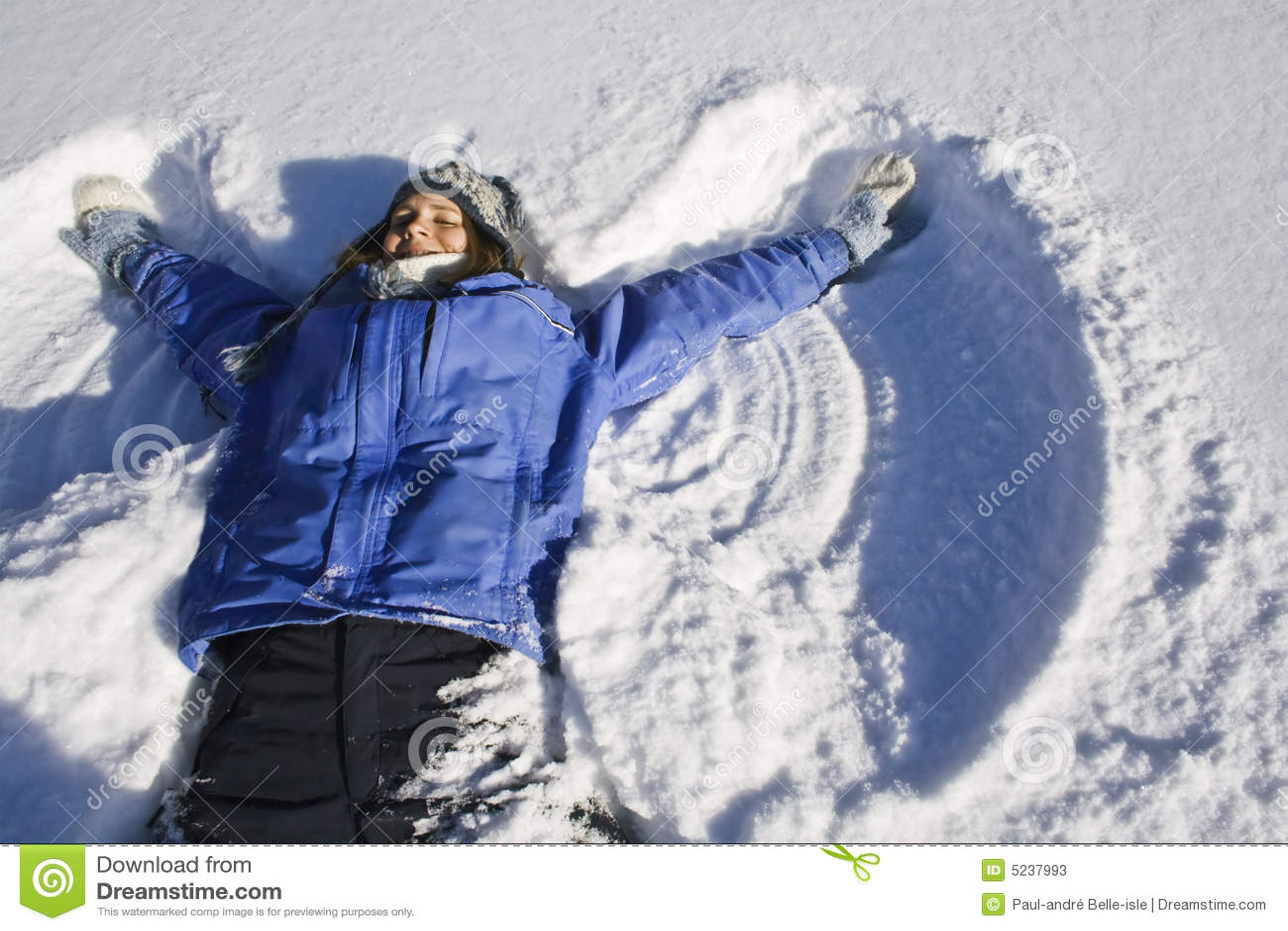 193 ngel de la nieve fotos de archivo imagen 5237993