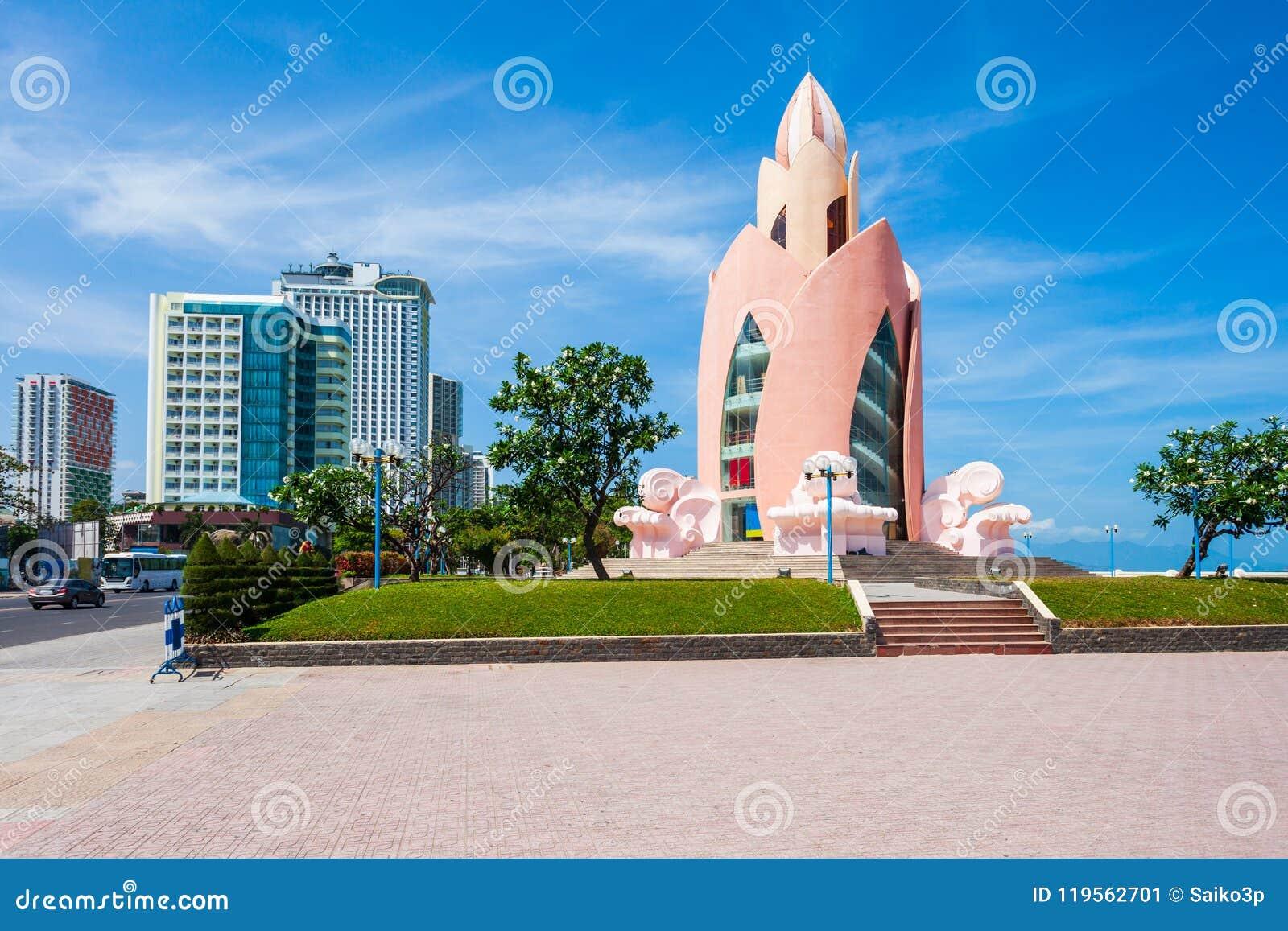 Nha Trang miasta linia horyzontu, Wietnam