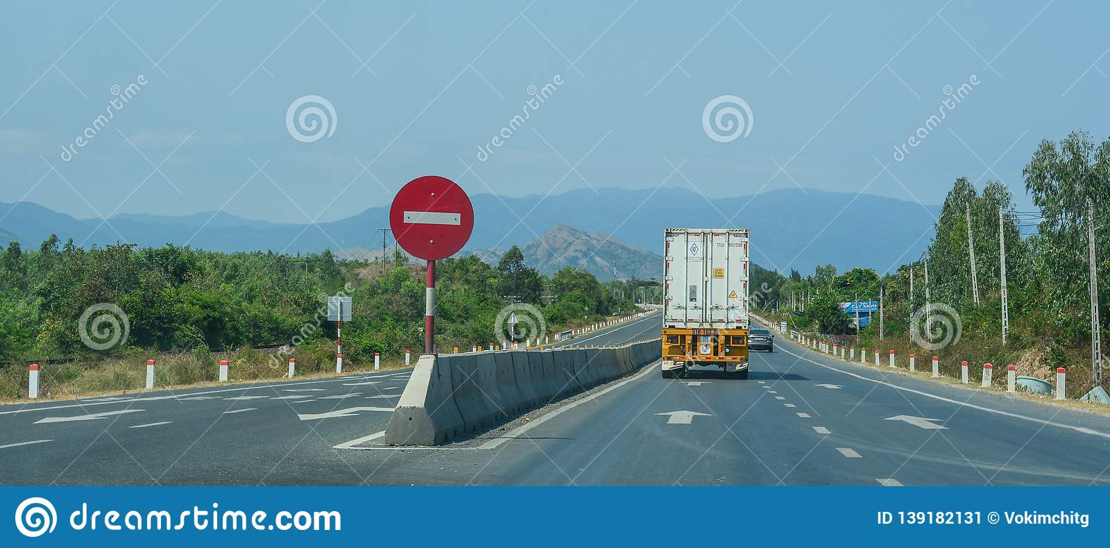 Highway in Nha Trang, Vietnam