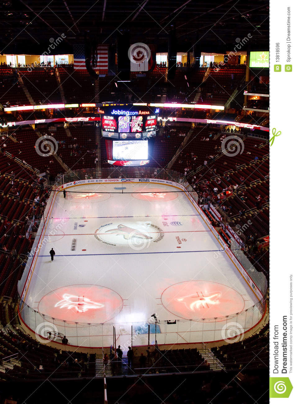 Nhl Hockey Edmonton Oilers Phoenix Coyotes Editorial Photo