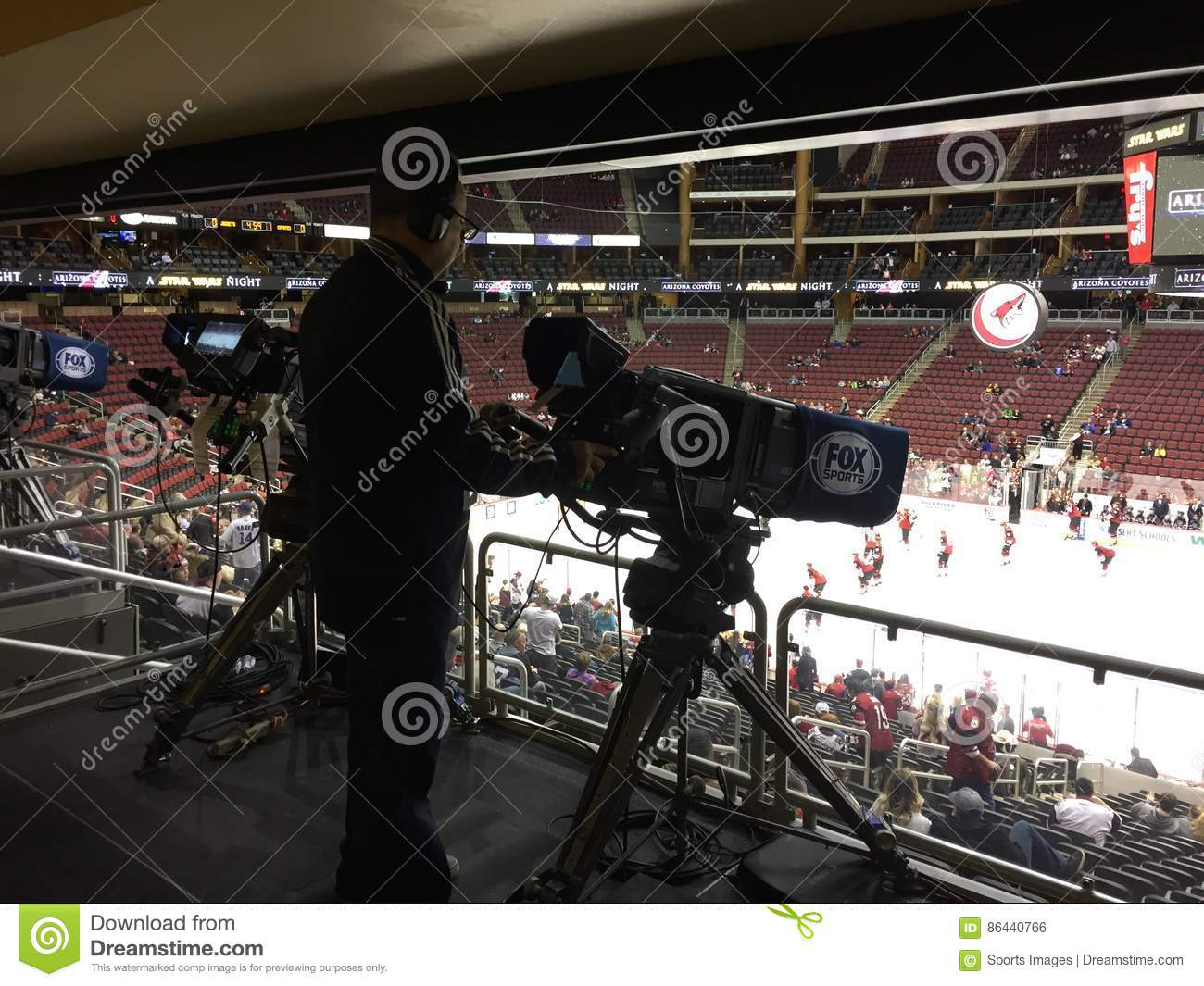 Nhl Hockey Game Broadcast Camera Editorial Photo Image Of Arena