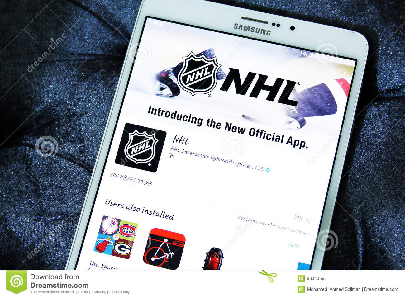 Nhl Mobile App Editorial Image Image Of National Logos 88343595