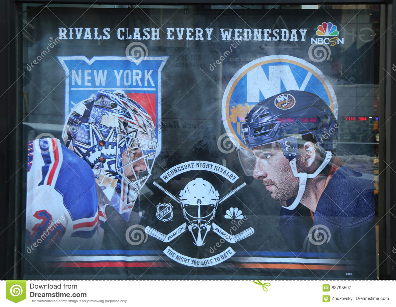 reputable site a4427 5ff09 The NHL Shop Windows Decoration In Manhattan Editorial ...