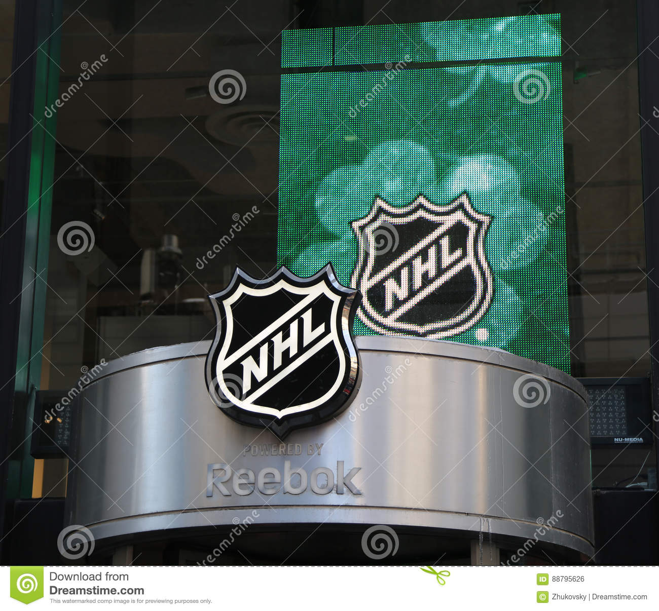 c6324819cb2 The NHL Shop Windows Decoration In Manhattan Editorial Photo - Image ...