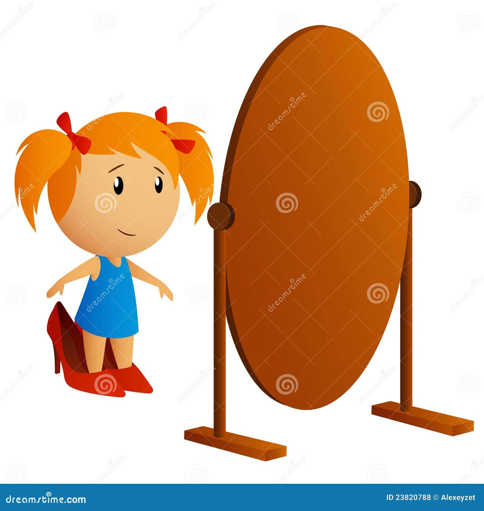 Ni a de la belleza que mira en el espejo for Espejo que no invierte la imagen