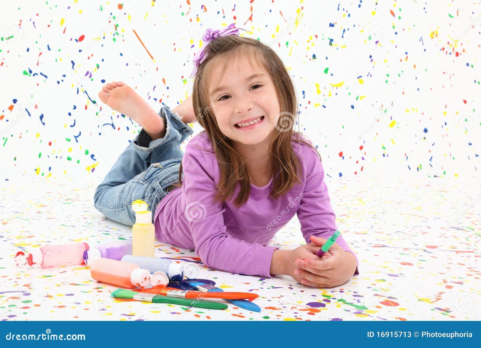 Niño con la pintura