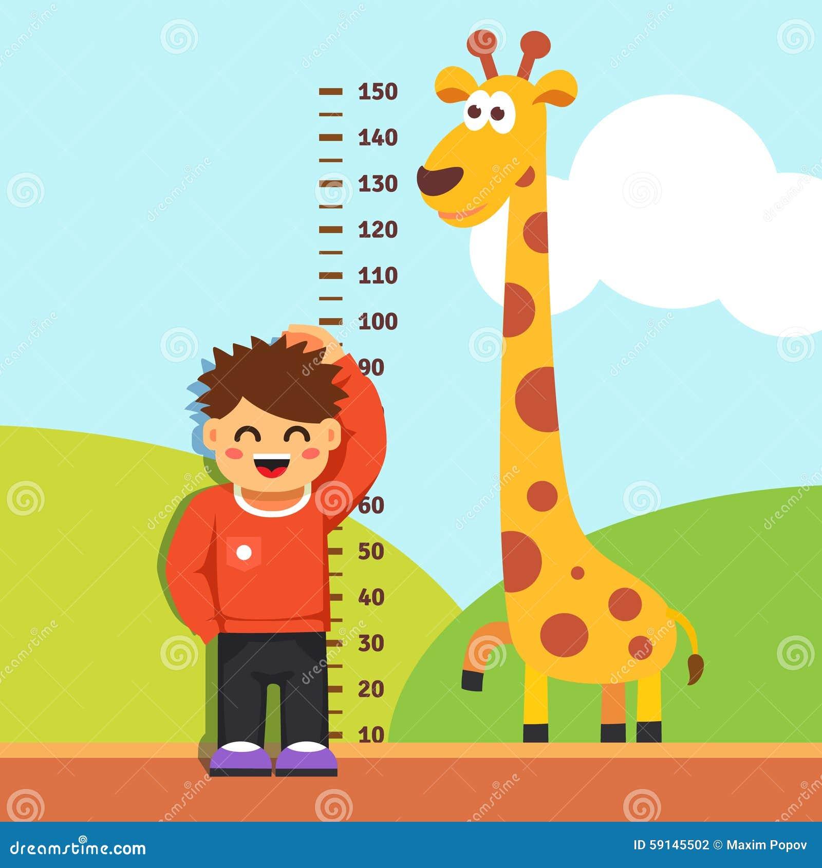 Resultado de imagen de niño midiendo su estatura