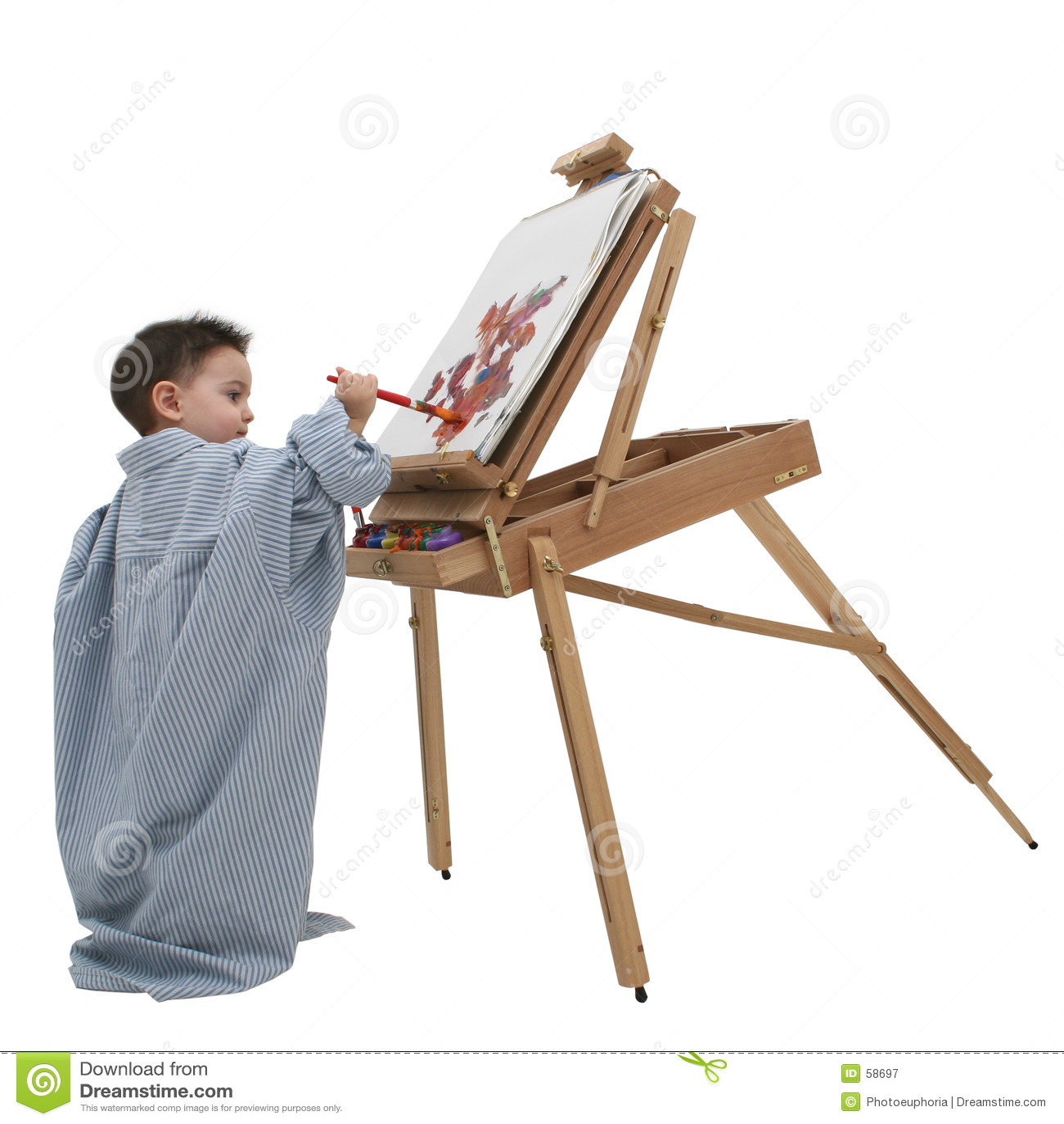 Niño del muchacho que pinta 01