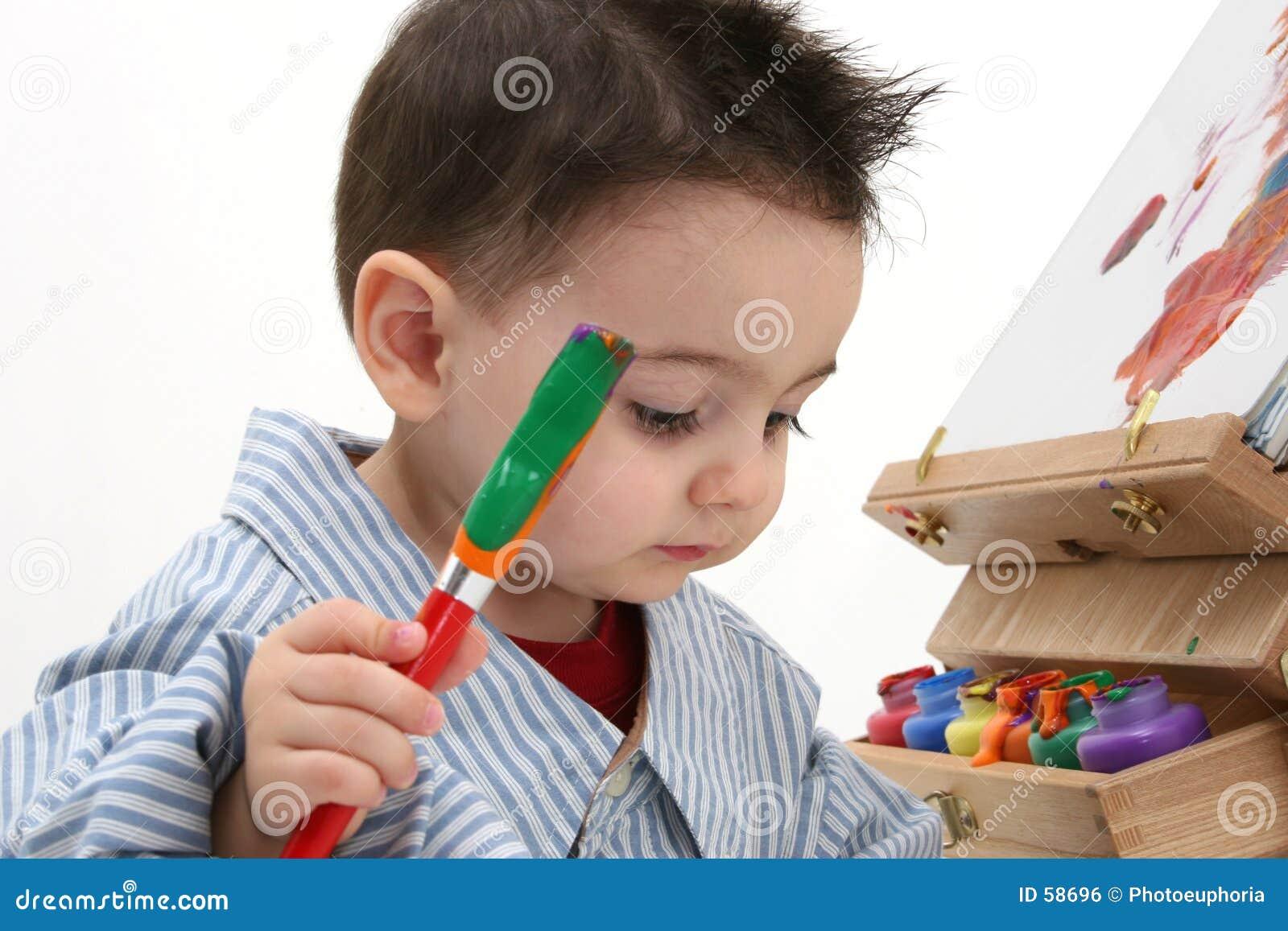 Niño del muchacho que pinta 02