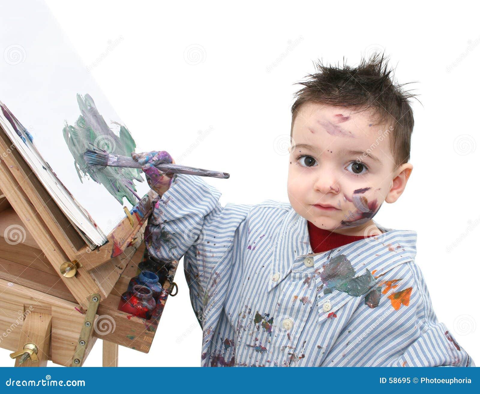 Niño del muchacho que pinta 04