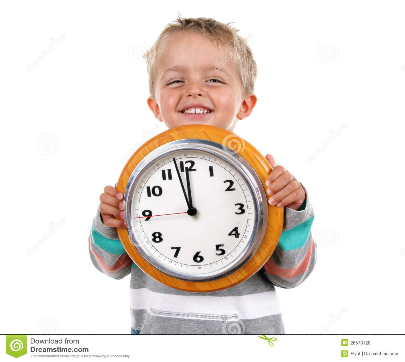 Ni o peque o con el reloj fotos de archivo libres de - Foto nino pequeno ...