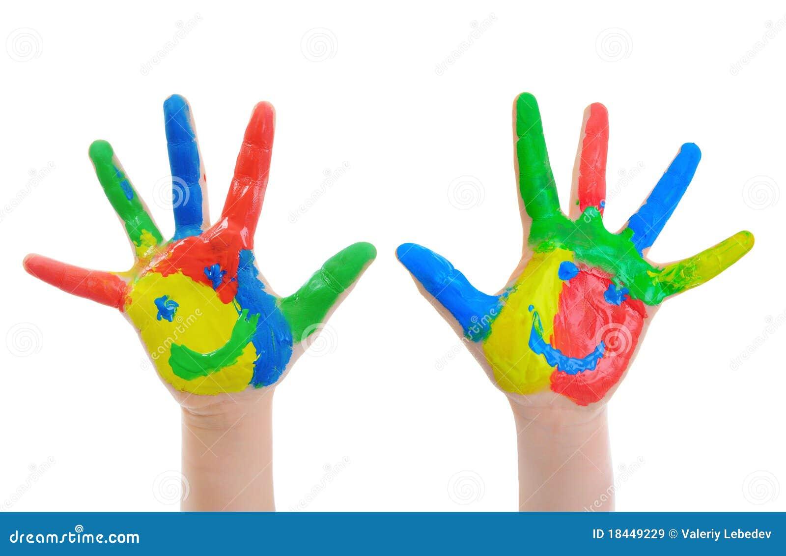 Niño pintado a mano