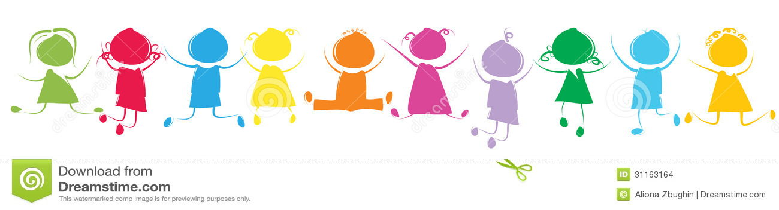 Niños coloridos