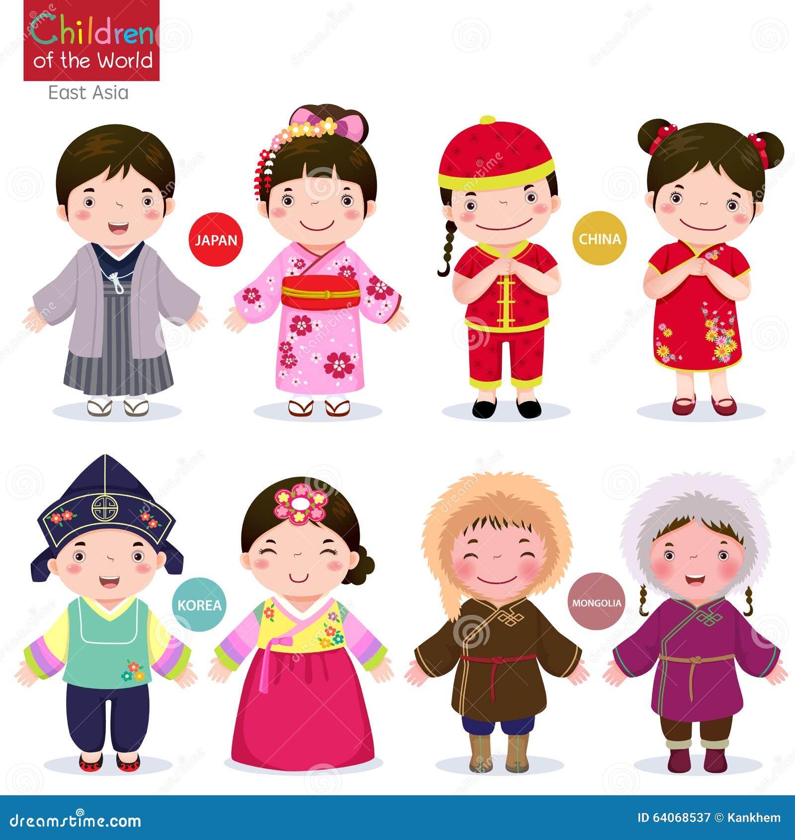 Niños del mundo; Japón, China, Corea y Mongolia