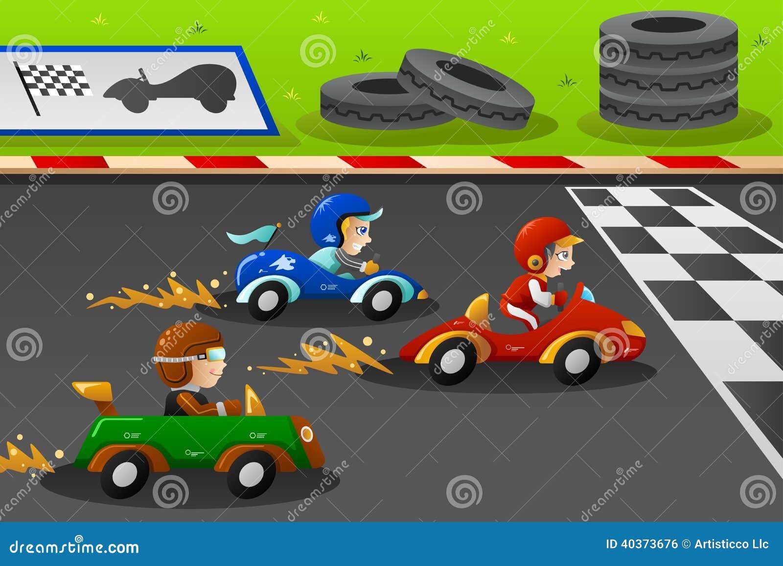 Niños en carreras de coches