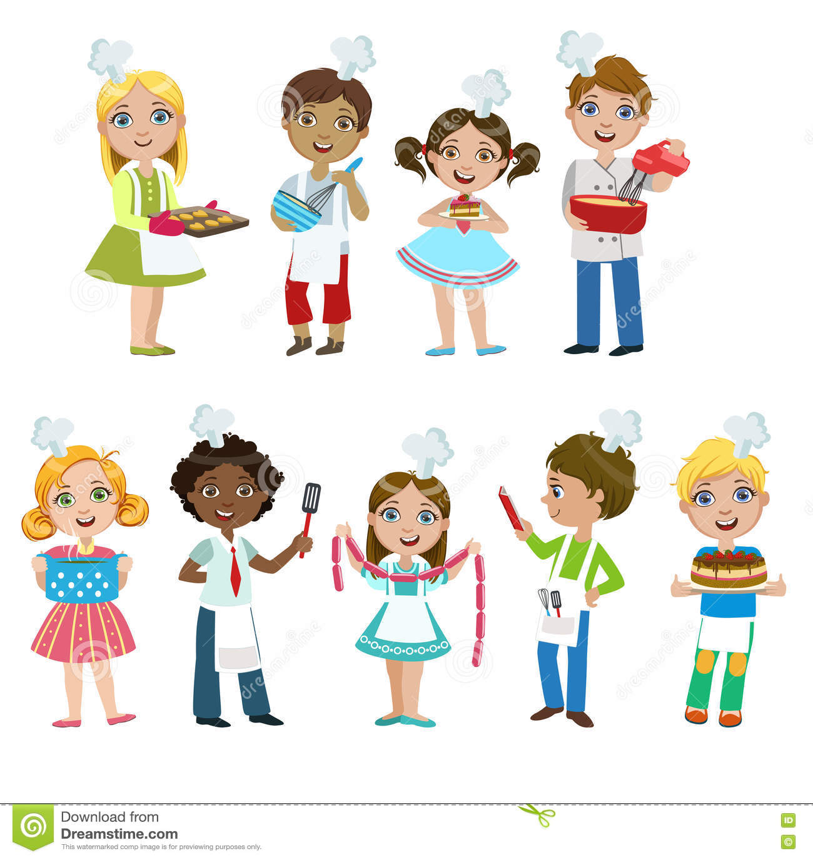 Niños En Cocinar La Lección Ilustración Del Vector Ilustración De
