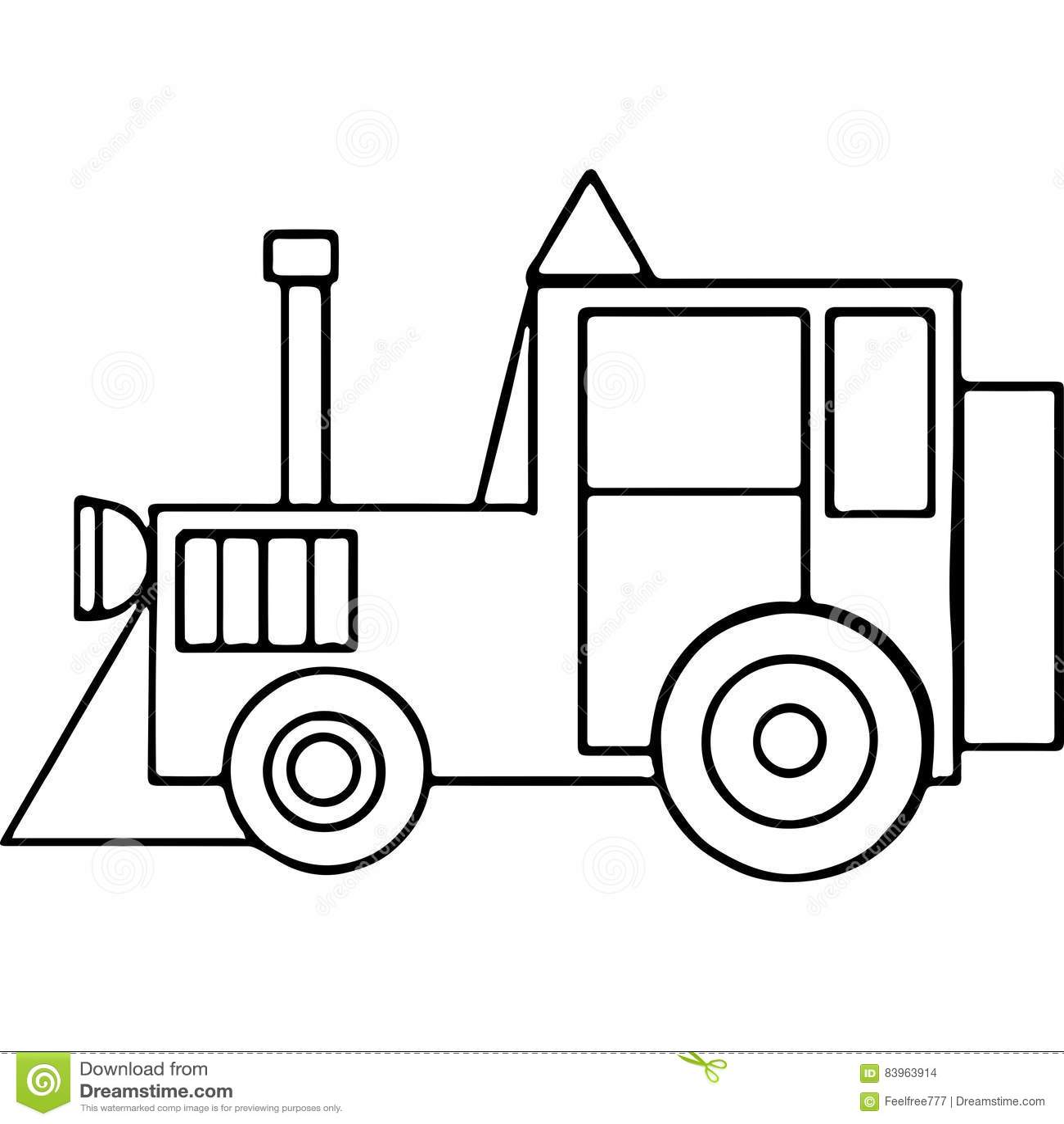 Famoso Páginas De Color Del Tractor Ornamento - Dibujos de Animales ...