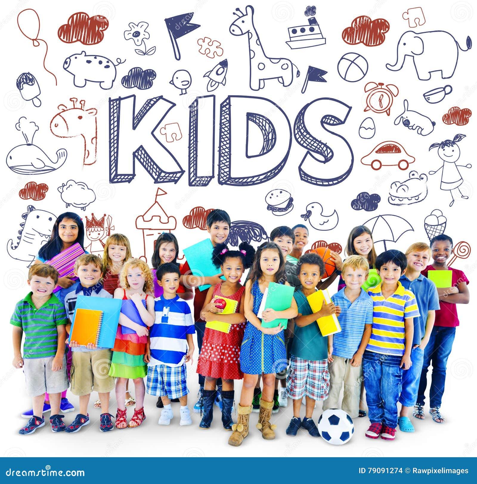 Niños Joy Happy Child Concept de los niños