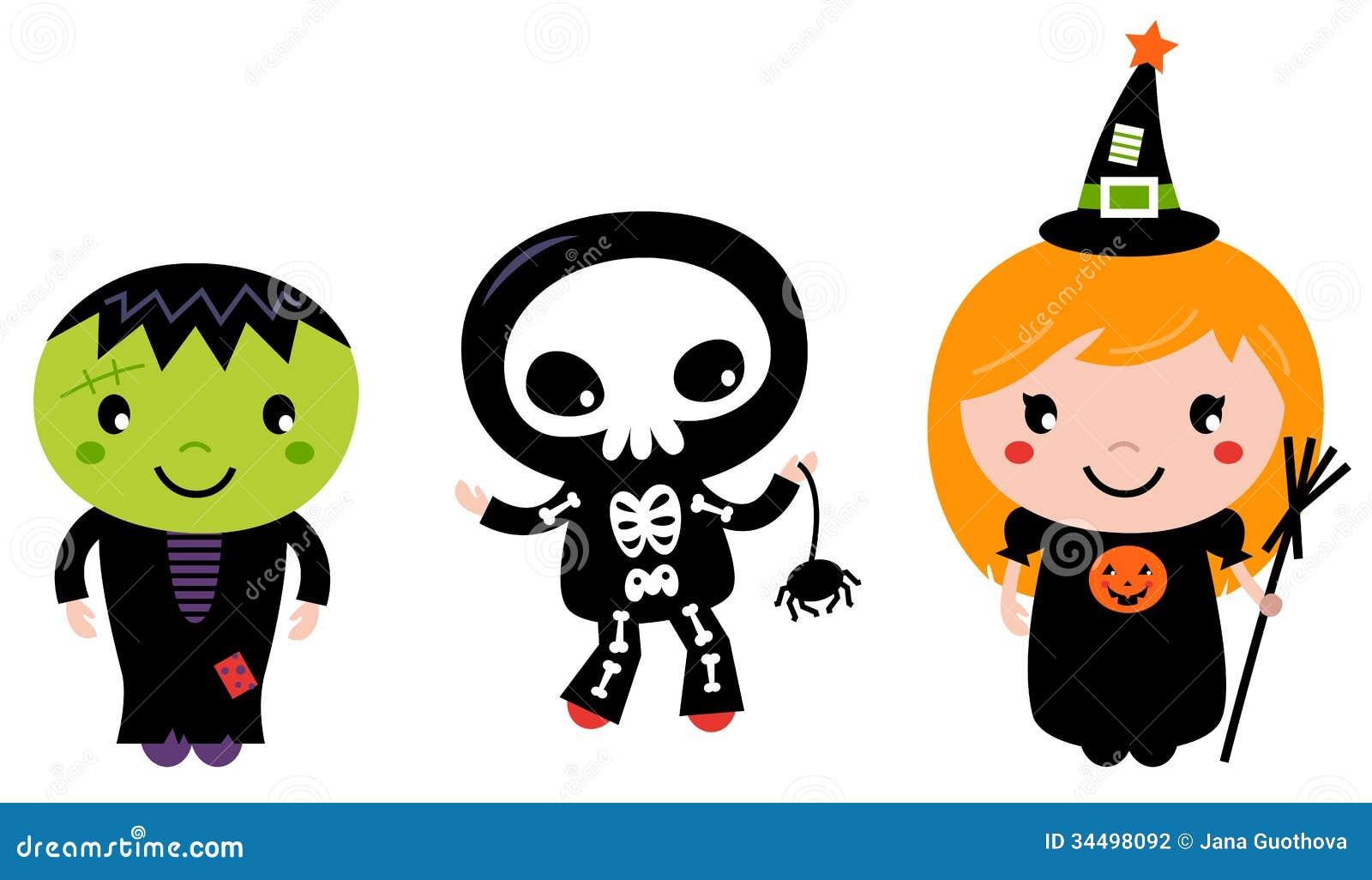 Niños lindos de Halloween