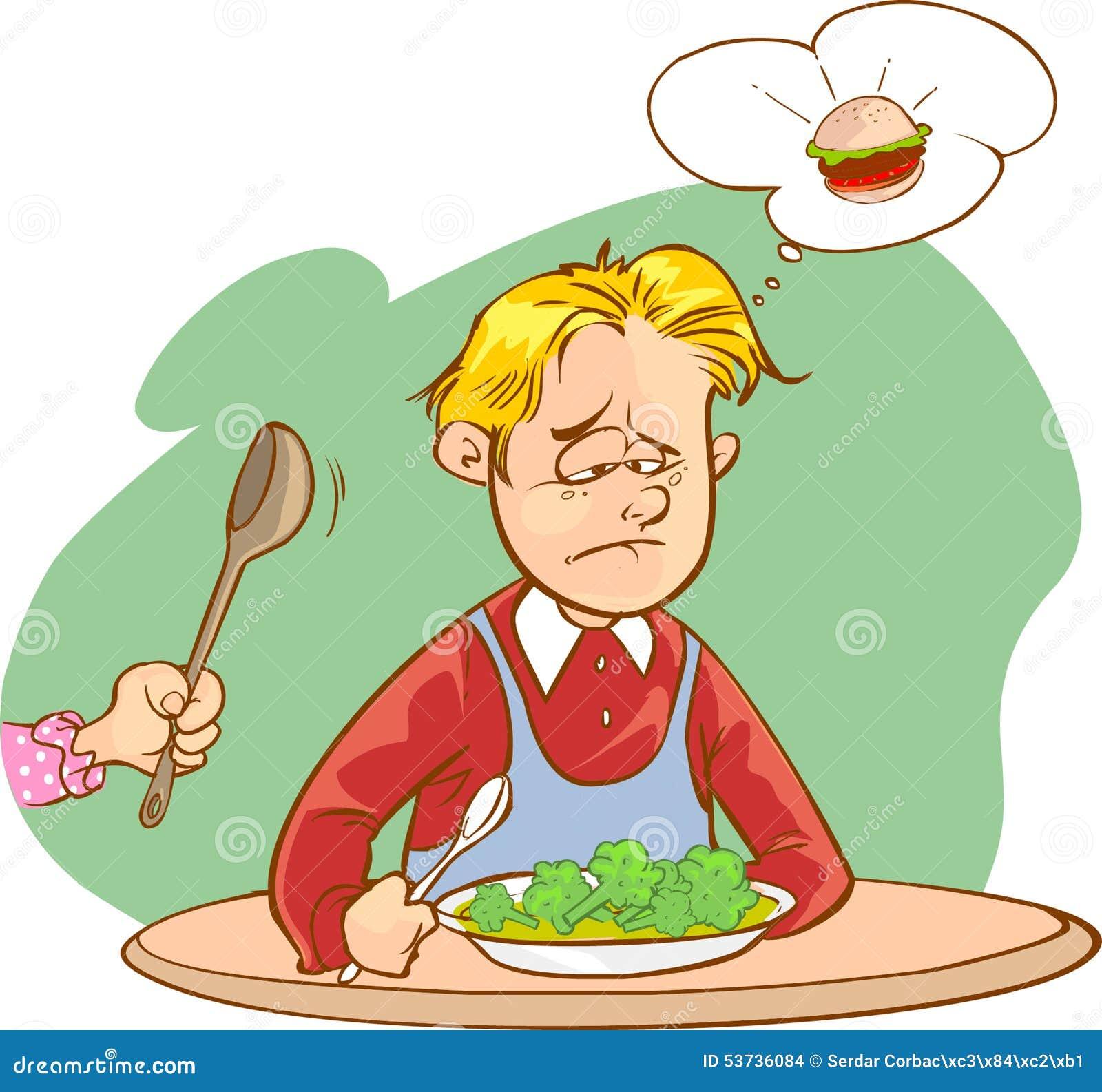 ni os que no les gusta verduras ilustraci n del vector