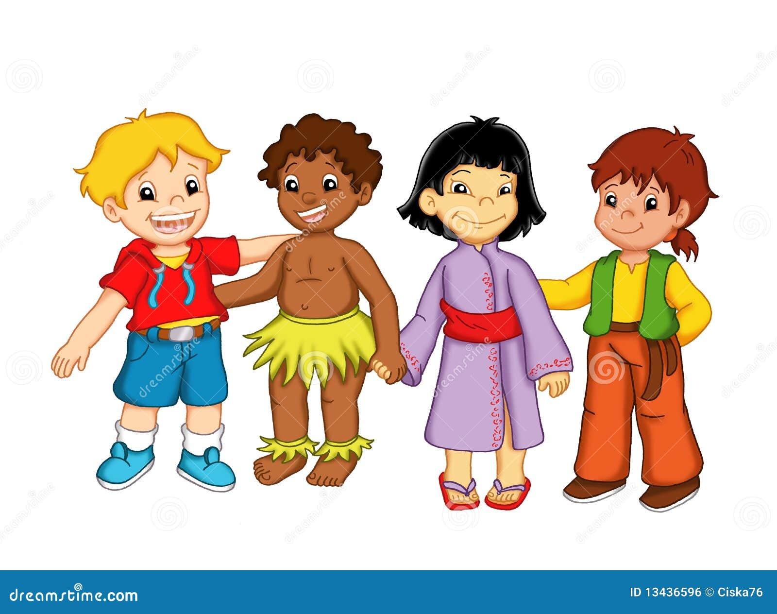 Muñecos Hechos De Papel Muestran Diversidad De Ecuador: Niños Y Diversidad Imagen De Archivo Libre De Regalías