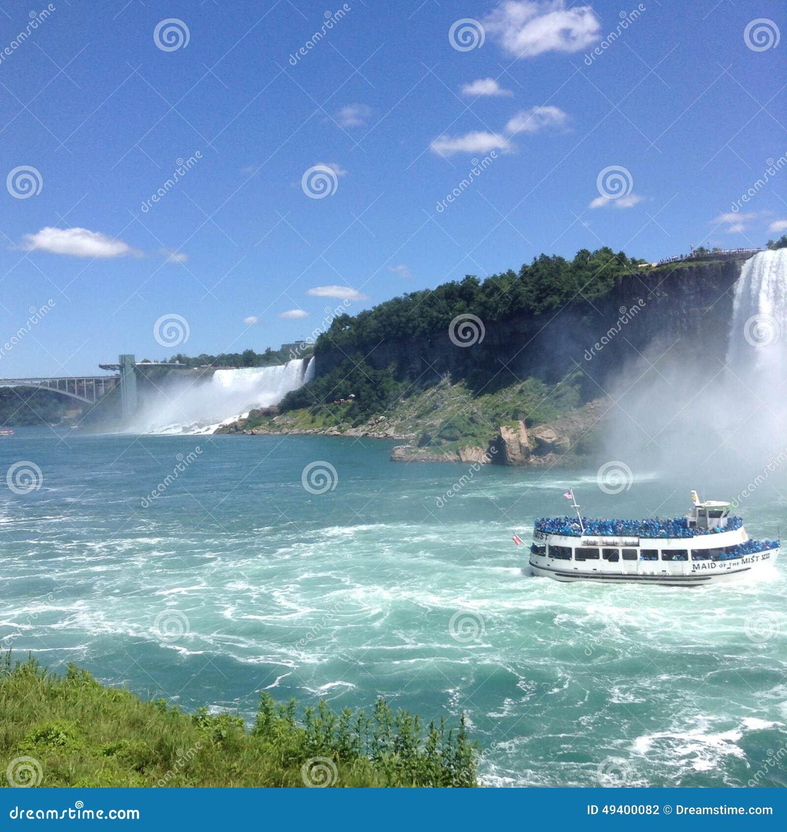 Download Niagara Falls redaktionelles stockfotografie. Bild von ferien - 49400082