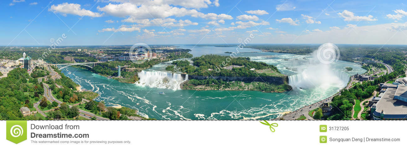 Niagara Falls Aerial View Royalty Free Stock Photo - Image: 31727205